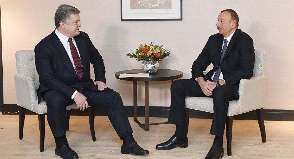 Встреча президентов Азербайджана и Украины Ильхама Алиева и Петра Порошенко