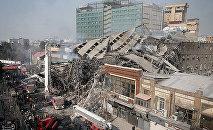 Мощный пожар в Тегеране