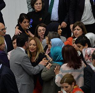 Очередной скандал в парламенте Турции