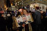 Trampa qarşı Nyu-Yorkda on minlərlə insanın iştirakı ilə etiraz aksiyası