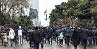 День всенародной скорби в связи с 20 Января на Аллее Шехидов, фото из архива