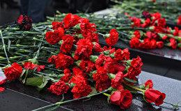 День всенародной скорби в связи с 20 Января на Аллее Шехидов