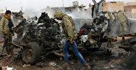 Поврежденный автомобиль в Сирии, фото из архива