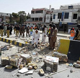 Pakistanda partlayış, arxiv şəkli