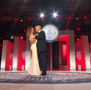 Первый танец 45-го президент США Дональд Трамп после инагурации