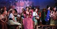 Сцена из оперы Гаэтано Доницетти Любовный напиток