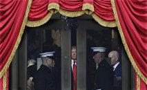 Избранный президент США Дональд Трамп перед инаугурацией в Капитолии, США, Вашингтон, 20 января 2017 года