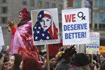 Демонстрации против Дональда Трампа в США
