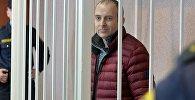 Блогер Александр Лапшин в зале суда, фото из архива