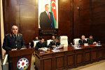 Генерал-лейтенант юстиции Ханлар Велиев в ходе коллегиального заседания в Военной прокуратуре