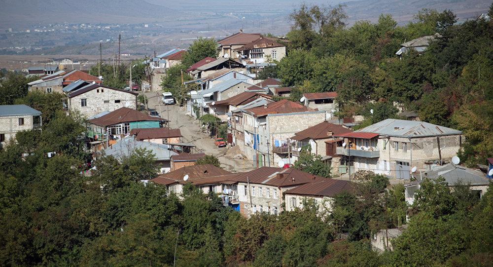 Азербайджанский город Ханкенди, находящийся под оккупацией Армении, фото из архива