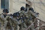 Сотрудники Службы государственной безопасности Азербайджана в ходе антитеррористической операции