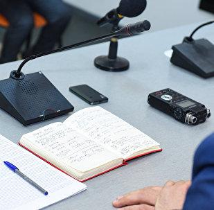 Пресс-конференция в Международном мультимедийном пресс-центре Sputnik Азербайджан, архивное фото