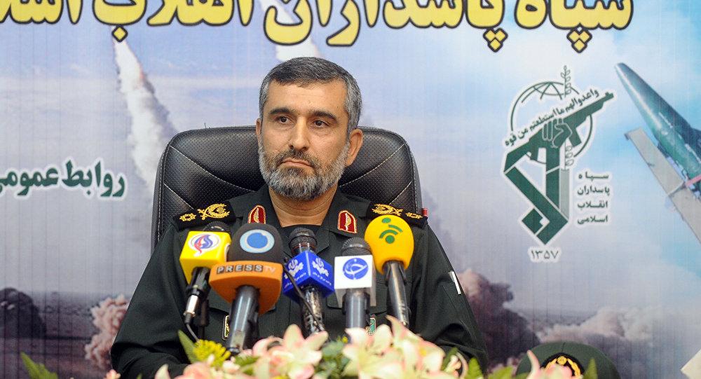 Командующий ВСК Ирана пригрозил обрушить ракеты наголовы противников  — знак  Америке