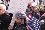 Демонстрации в США против указа Трампа о защите от терроризма
