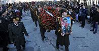 Похороны военнослужащего ВС Азербайджана Чингиза Гурбанова