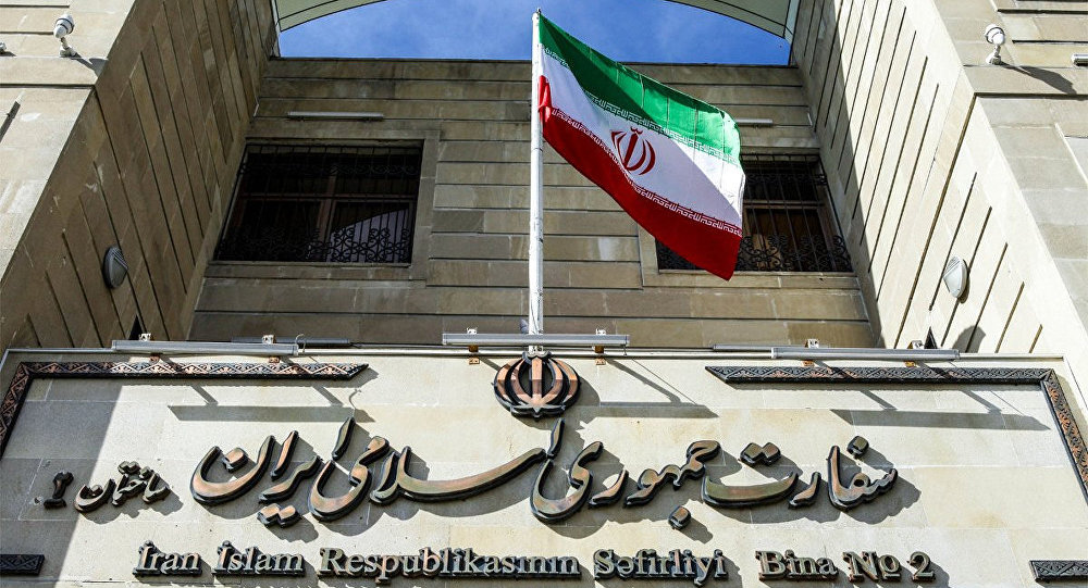 Здание посольства Ирана в Баку
