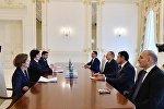 İlham Əliyev Fransanın Dövlət katibinin başçılıq etdiyi nümayəndə heyətini qəbul edib