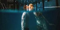Фотосессия под водой известных моделей Марины Дар и Сергея Крауза