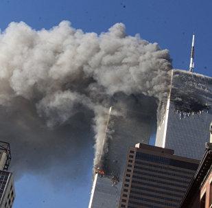 ABŞ-da 2001-ci ilin 11 sentyabrında baş verən terror aktı, arxiv şəkli