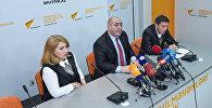 Пресс-конференция директора Центра Республиканской сейсмологической службы Гурбана Етирмишли на тему Сейсмологическая ситуация в Азербайджане