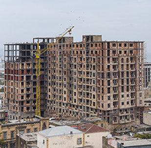 Строительство жилого дома в Баку, фото из архива