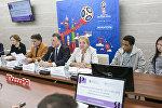 В Институте русского языка имени Пушкина в Москве состоялся круглый стол, посвященный запуску программы по обучению русскому языку для иностранных волонтеров