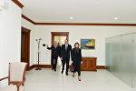 Ильхам Алиев ознакомился с условиями, созданными в административном здании ЗАО «Азербайджанские железные дороги»