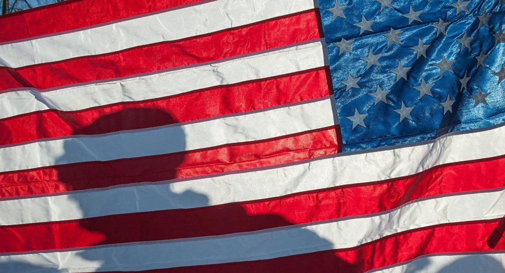 Флаг Соединённых Штатов Америки, фото из архива