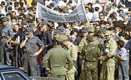 Митинг в Ханкенди, 21 сентября 1991 года, фото из архива