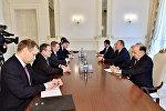 Президент Азербайджана Ильхам Алиев принял делегацию во главе с министром иностранных дел Латвии