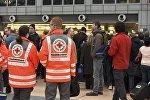Врачи скорой помощи в аэропорту Гамбурга