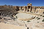 Римский амфитеатр в Пальмире, 31 марта 2016 года