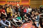 Волонтеры IV Исламских игр солидарности в Баку