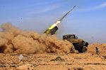 Солдаты сирийской армии запускают ракету, Ракка, Сирия