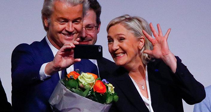 Марин Ле Пен и Герт Вилдерс, фото из архива