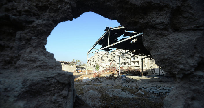 Разрушенные здания в Сирии, фото из архива