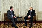 İlham Əliyev Münxendə MAN SE şirkətinin baş icraçı direktoru ilə görüşüb