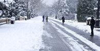 Снег в Баку