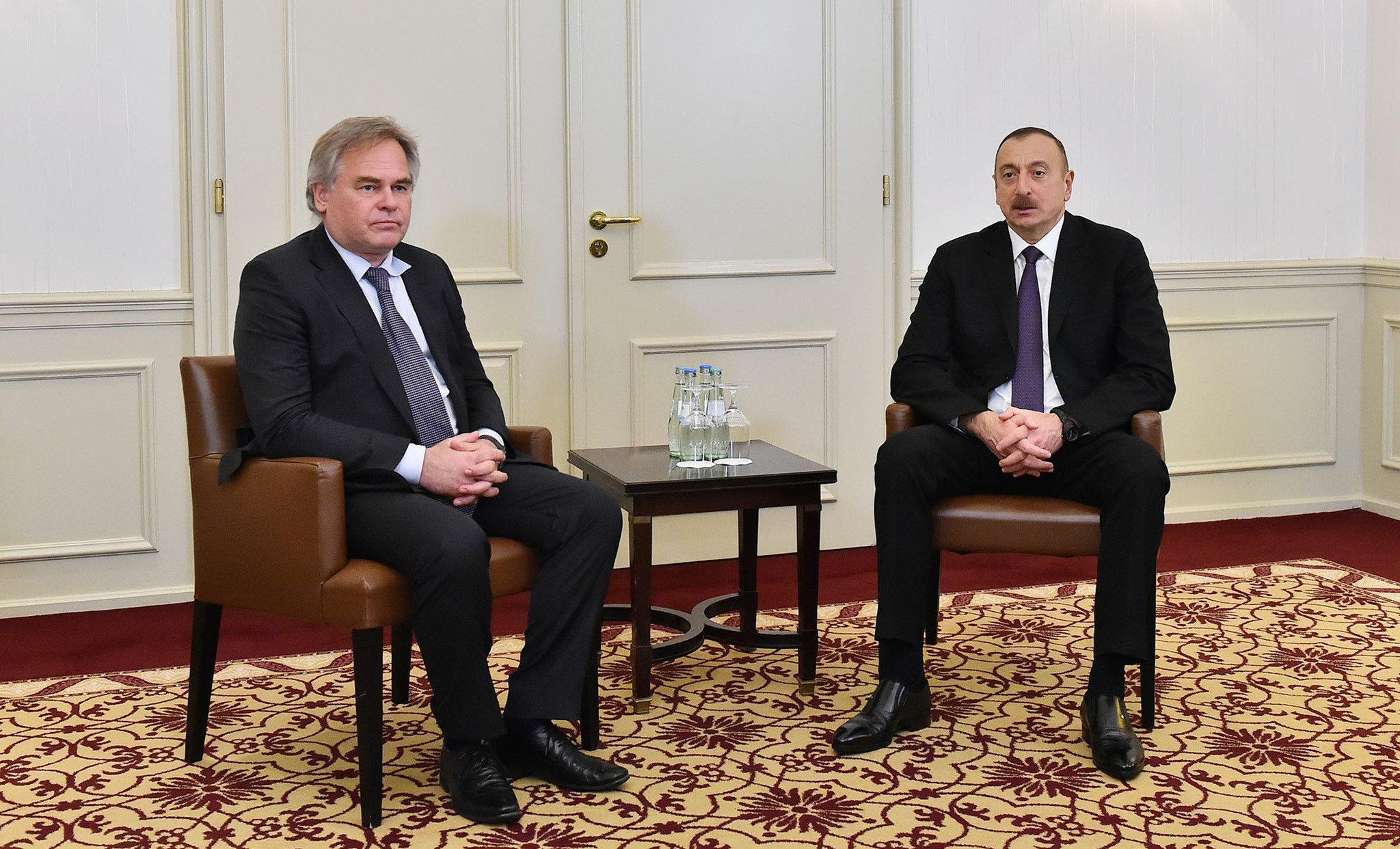 Ильхам Алиев и Евгений Касперский