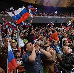 Российские футбольные болельщики, фото из архива