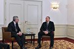 """İlham Əliyev Münhendə """"Leonardo"""" şirkətinin baş icraçı direktoru ilə görüşüb"""