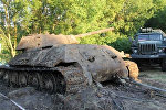 Rusiyanın Don çayından II Dünya Müharibəsindən  qalma T-34 tankı çıxarıldı