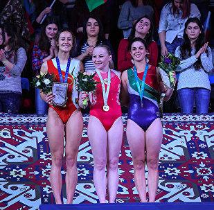 Российская гимнастка Анна Коробейникова завоевала золото в соревнованиях по тамблингу