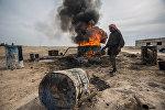 Мужчина в окрестностях Ракки, фото из архива