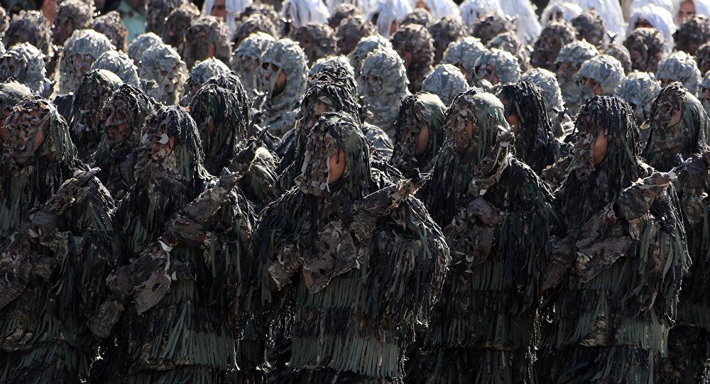 Элитные подразделенияВС Ирана проводят учения