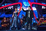 Оперный певец Юсиф Эйвазов и оперная певица Анна Нетребко
