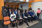 Пресс-конференция в пресс-центре Sputnik Азербайджан, архивное фото