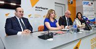 Пресс-конференция на тему Перспективы развития азербайджанского спорта в свете Исламиады