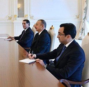 Президент Ильхам Алиев принял делегацию во главе с государственным министром Японии